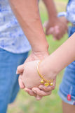Boy and girl holding hand together Royalty Free Stock Photography