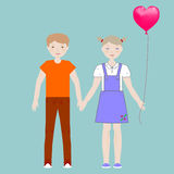 Boy and girl. Holding hands Royalty Free Stock Photos