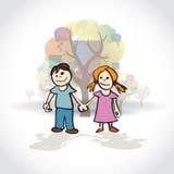 Boy and girl Stock Photo