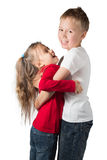 Boy and Girl Hugging Royalty Free Stock Images