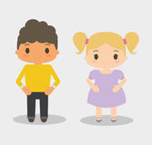 Boy and girl kid cartoon design Royalty Free Stock Photo