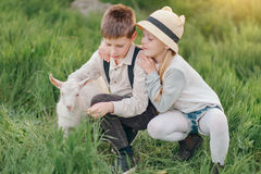 Boy and girl with the kid Royalty Free Stock Photos