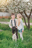 Boy and girl with the kid Royalty Free Stock Image