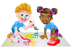 Boy and Girl Kids Playing Stock Photography