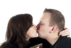 Boy and girl kissing Stock Photo