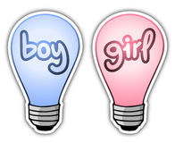 Boy and girl light Royalty Free Stock Image