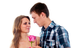 Boy and girl in love Royalty Free Stock Photos