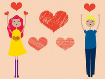 Boy and Girl love Royalty Free Stock Images
