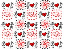 Boy and girl in love. Background for wallpaper or background for bag. vector editable Royalty Free Stock Images