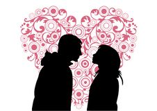 Boy and Girl in Love Royalty Free Stock Photo