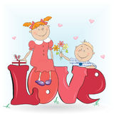 Boy and a girl in love. Stock Photo