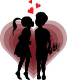Boy and girl in love. Illustration of boy and girl in love Royalty Free Stock Photo