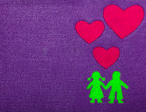 Boy and Girl in Love Silhouette Stock Photos