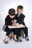 Boy and girl making homework Royalty Free Stock Image