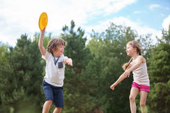Boy and girl playing Royalty Free Stock Photo