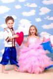 Boy and girl playing Stock Image