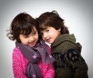 Boy and girl portrait Stock Photo