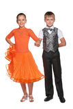 Boy and girl are ready for dancing Royalty Free Stock Photo