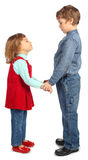 Boy with girl represent  letter H Stock Photography