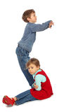 Boy with girl represent  letter s Royalty Free Stock Image