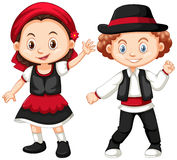 Boy and girl in Romania costume Stock Images