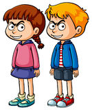 Boy and girl with serious face Royalty Free Stock Photo