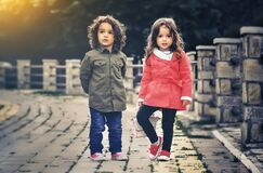 Boy and girl siblings Royalty Free Stock Photography