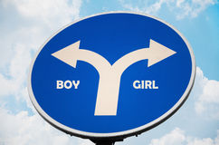 Boy and Girl sign Stock Image