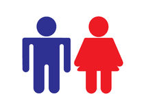 Boy and girl silhouette icons Royalty Free Stock Photography