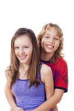 Boy and girl smiling Royalty Free Stock Photography