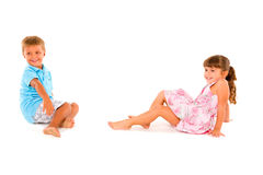 Boy and girl smiling Royalty Free Stock Image