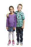 Boy and girl standing together Royalty Free Stock Photography