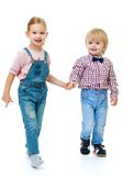 Boy with a girl standing Stock Images