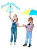 Boy with a girl standing Royalty Free Stock Images