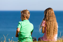 Boy and girl during summer time Royalty Free Stock Photography