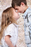 Boy and girl together Stock Images
