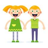 boy girl together διανυσματική απεικόνιση
