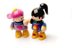Boy and girl toy Stock Photo