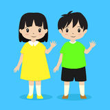 Boy and Girl Vector stock illustration