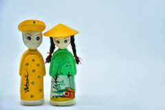 Boy and girl Veitnam. Couple veitnam doll Royalty Free Stock Photos