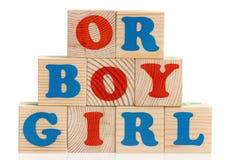 Boy or girl word Stock Photo