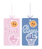 Boy and girls card. With baby Royalty Free Stock Image