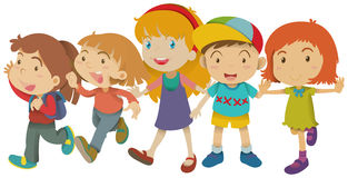 Boy and girls with happy face Stock Image