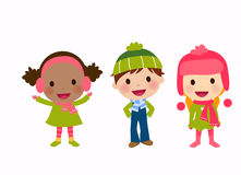 Boy and girls,winter Royalty Free Stock Photography