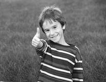 Boy Giving a Thumbs Up Stock Image