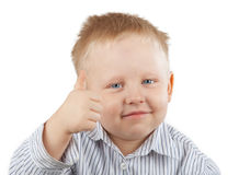 Boy Giving a Thumbs Up Stock Photo
