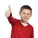 Boy giving you thumb up Stock Photos