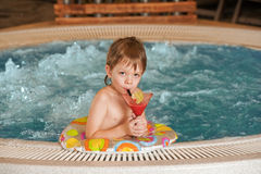 Boy with glass of coctail Royalty Free Stock Images
