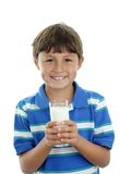 Boy with glass of milk Royalty Free Stock Photography