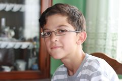 Boy with glasses Stock Photos